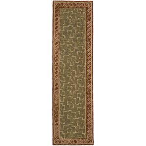 Martha Stewart Byzantium Sealing Wax Greek Key Indoor/Outdoor Area Rug