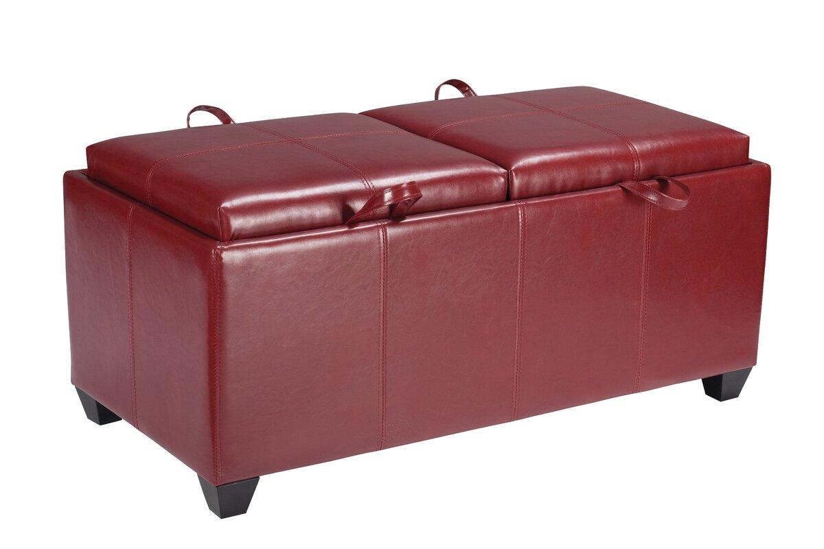 red barrel studio chesterhill vinyl storage bedroom bench