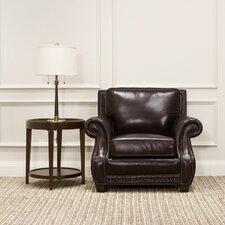 Anndale Leather Club Chair by 17 Stories