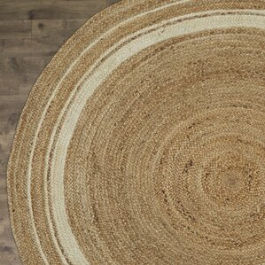 Cordell Ivory Striped Jute Rug