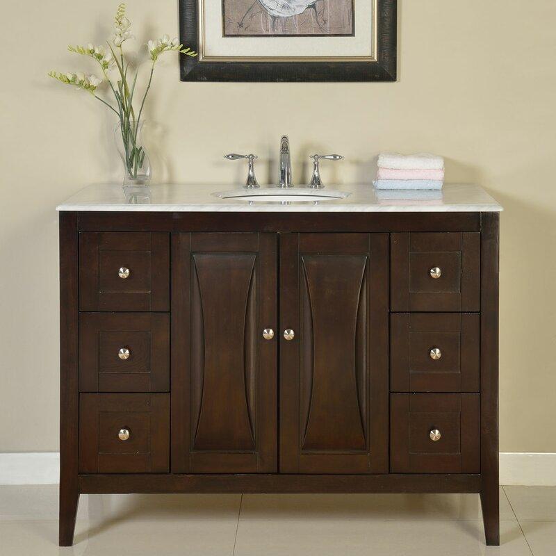 Silkroad Exclusive 48 Single Sink Cabinet Bathroom Vanity Set