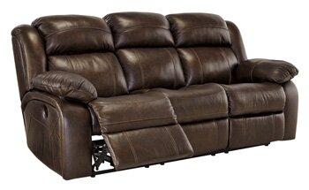 Signature Design By Ashley Branton Leather Reclining Sofa U0026 Reviews |  Wayfair