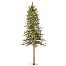 Natural Alpine 6' Green Artificial Christmas Tree with 250 Clear Lights & Stand