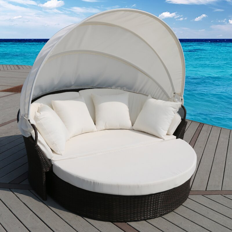 default name. SunTime Outdoor Living Cerbere Flat Rattan Daybed with Cushions