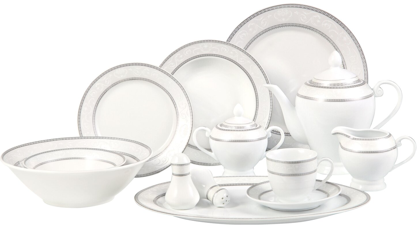 lorren home trends sirena  piece dinnerware set service for   - defaultname