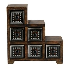 Curios 6 Drawer Wood Apothecary Chest by Kindwer