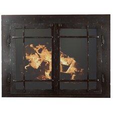 Mountain Series Fireplace Glass Door by Ironhaus, Inc.