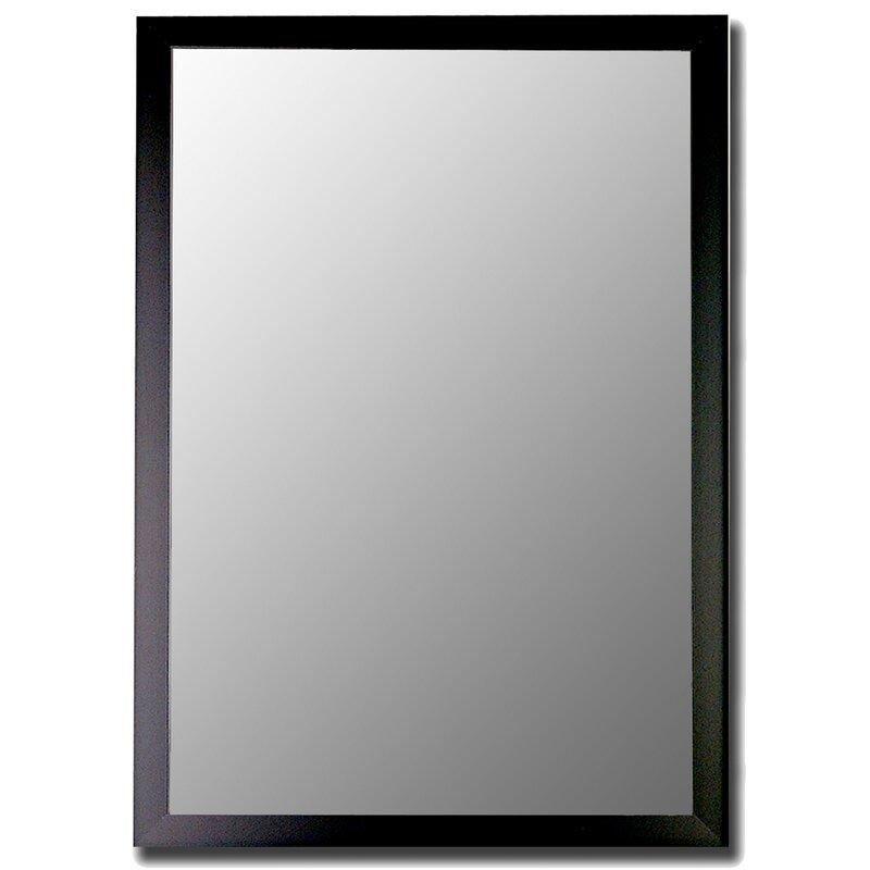 Humbert Matte Black Modern Wall Mirror