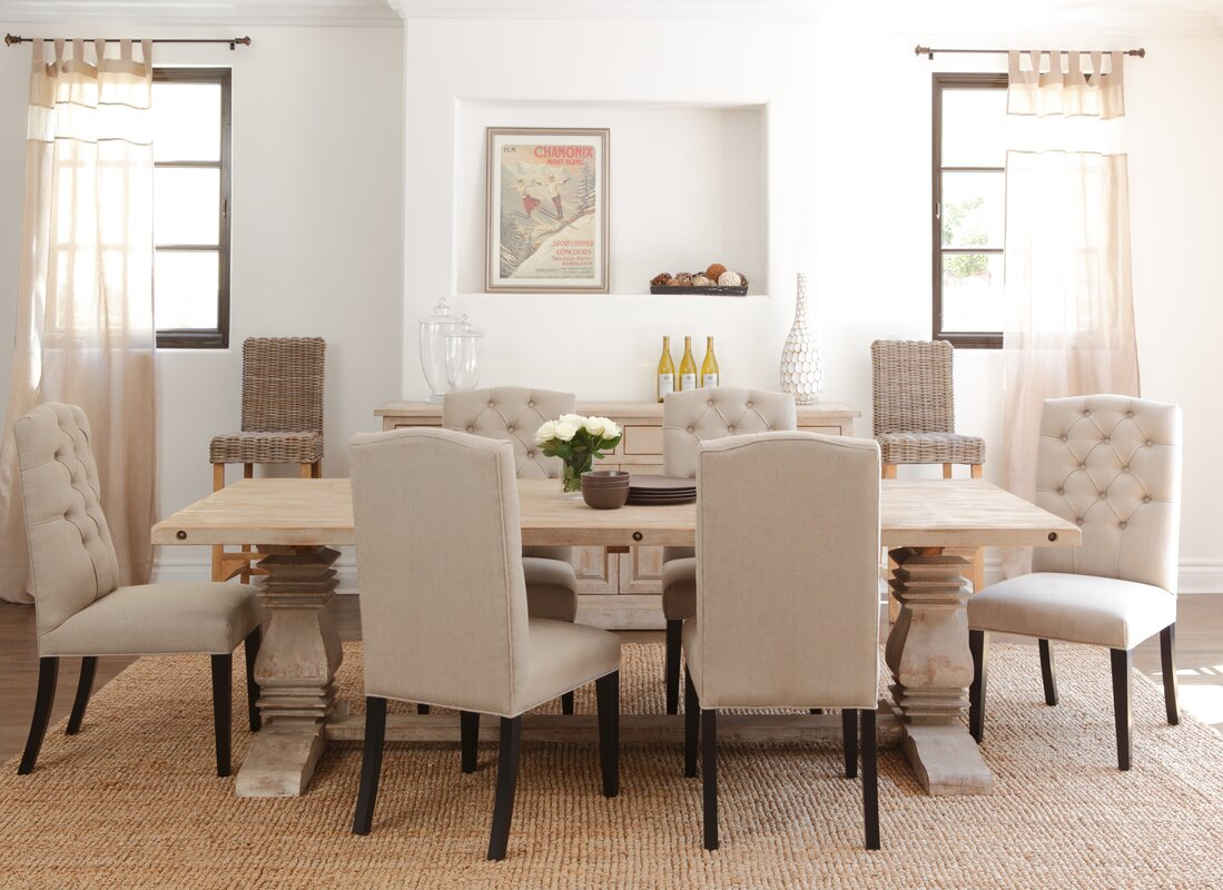 White wood dining room table - Pokorny Aldean Dining Table