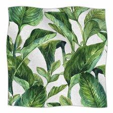 'Banana Leaves' Fleece Blanket