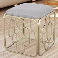 Metal Nesting Flax Oval Shape Ottoman by Adeco Trading