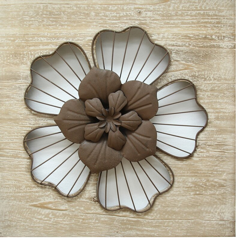 default name. Stratton Home Decor Rustic Flower Wall D cor   Reviews   Wayfair