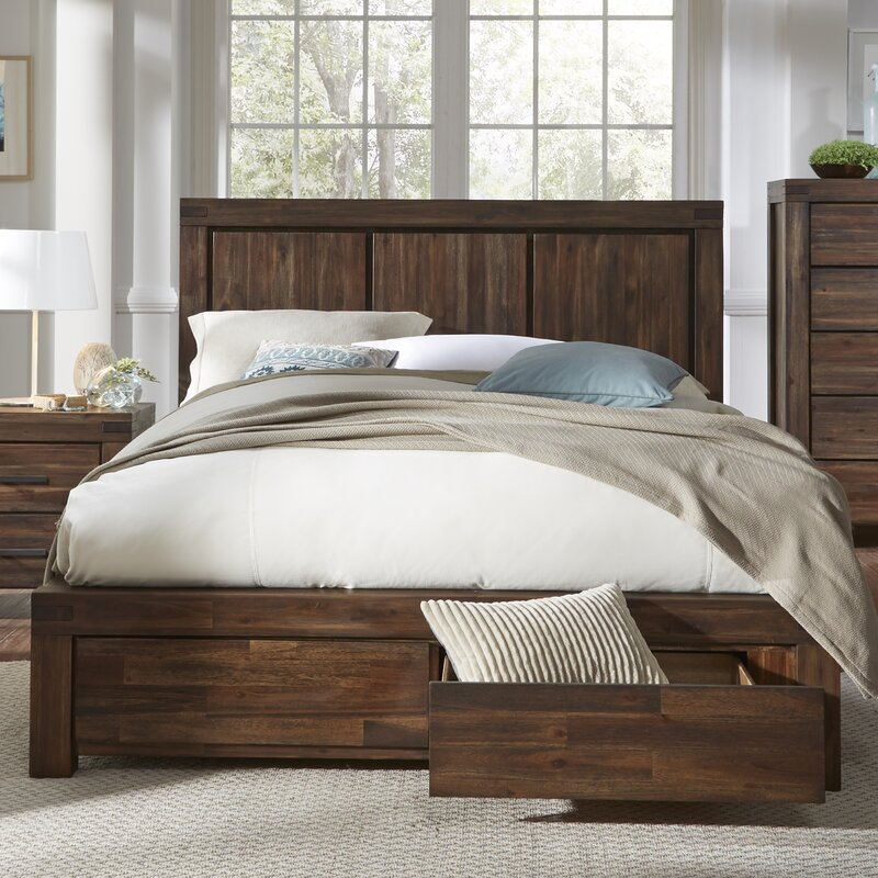 Modern Platform Beds, Contemporary Bed Frames, Cool Modern Beds, Palo Alto Storage Panel Bed