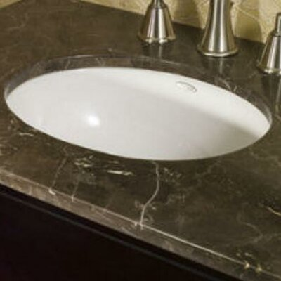 Ovalyn Rim Oval Undermount Bathroom Sink With Overflow