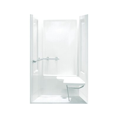 oc ada shower kit with grab bars at left