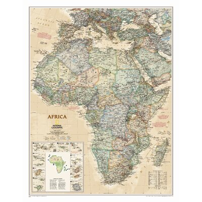 Africa Executive Wall Map