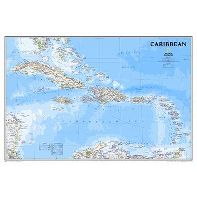Caribbean Classic Wall Map