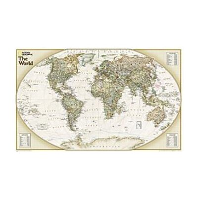 World Explorer Executive Wall Map Set Of 2