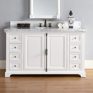 Belhaven 60 Single Undermount Sink Cottage White Bathroom Vanity Set Darby Home Co