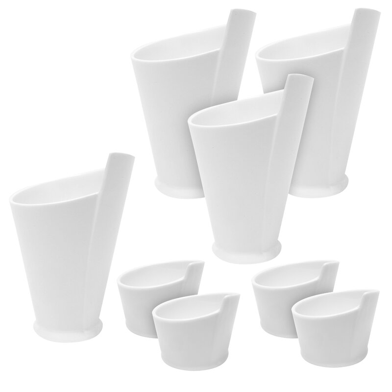 8 Piece Fry Cup and Sauce Dish Set