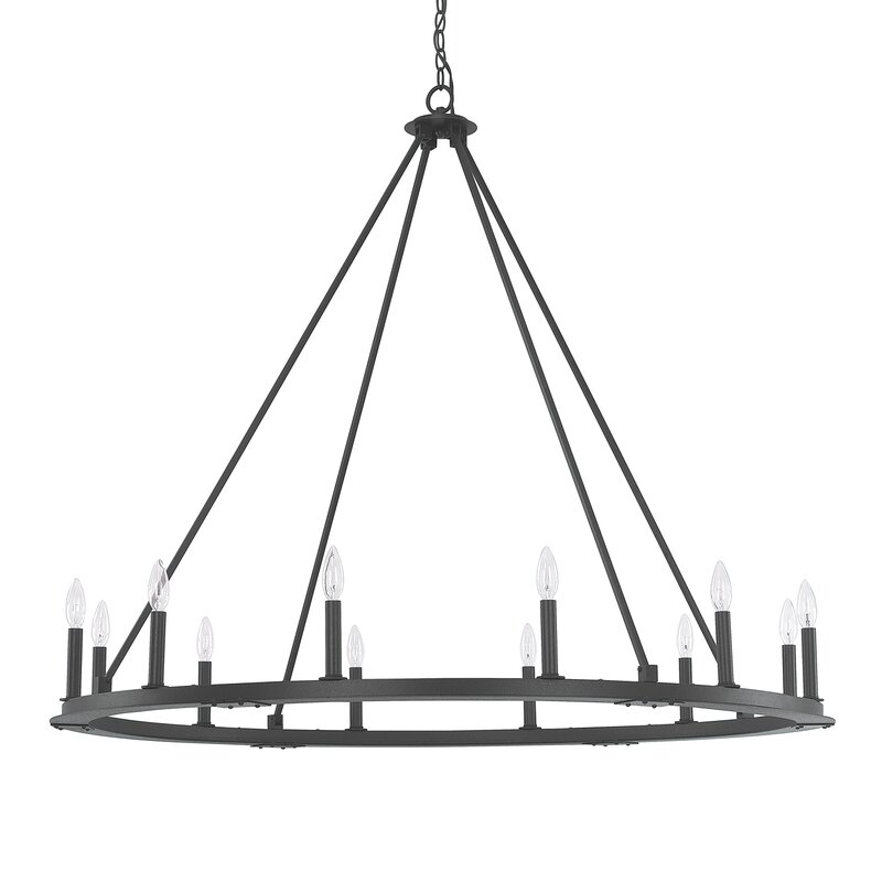 lighting guide 12-light candle style modern farmhouse chandelier