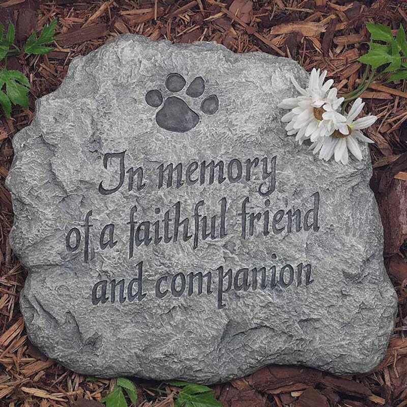 In Memory of A Faithful Friend and Companion Stepping Stone