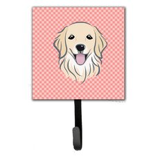 Checkerboard Golden Retriever Wall Hook by Caroline's Treasures
