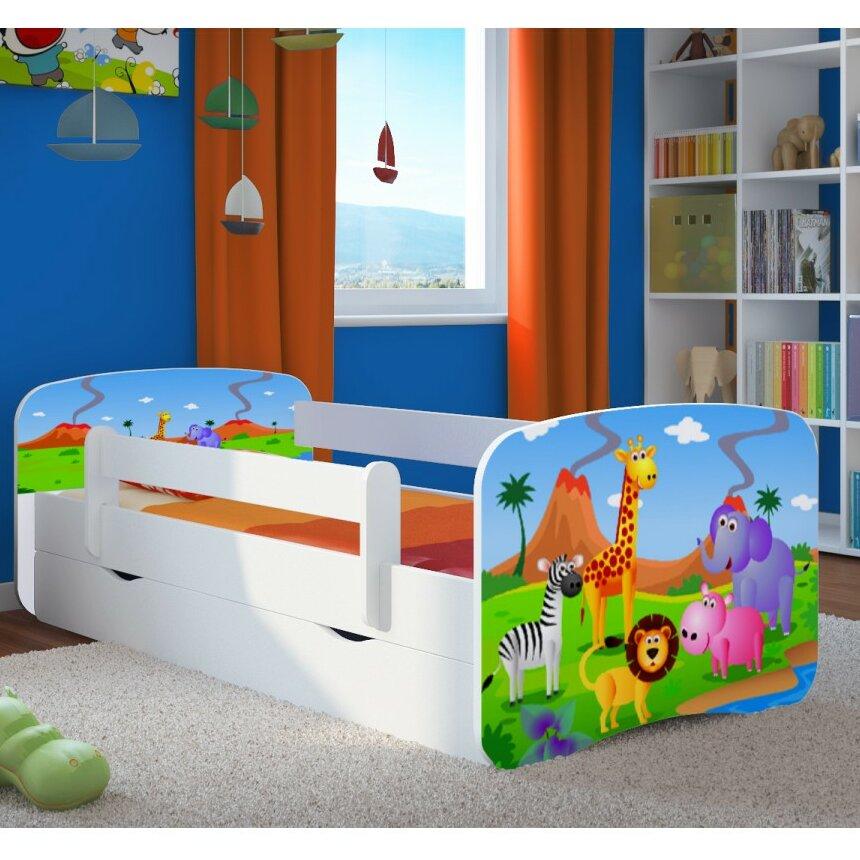 kocot kids kinderbett safari mit matratze und schublade. Black Bedroom Furniture Sets. Home Design Ideas