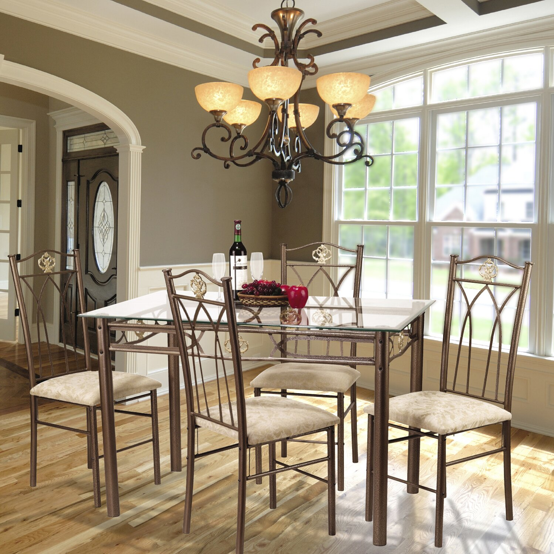 Hazelwood Home 5 Piece Dinette Set & Reviews | Wayfair
