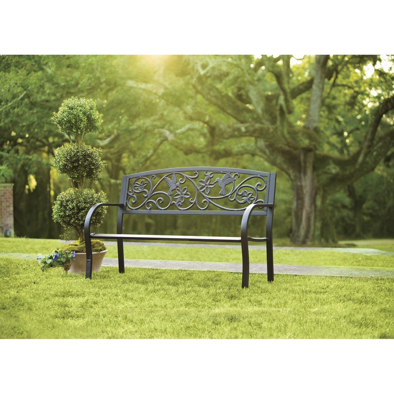 Plow Amp Hearth Hummingbird Metal Garden Bench Amp Reviews