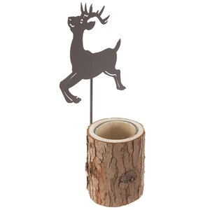 Reindeer Wooden Tealight