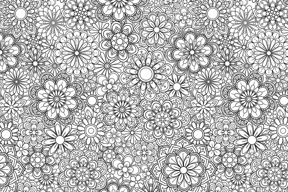 Brewster Home Fashions Marigold Floral Coloring 6\' x 108\