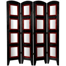 67 x 49 Photo Display Shoji 4 Panel Room Divider by Oriental Furniture