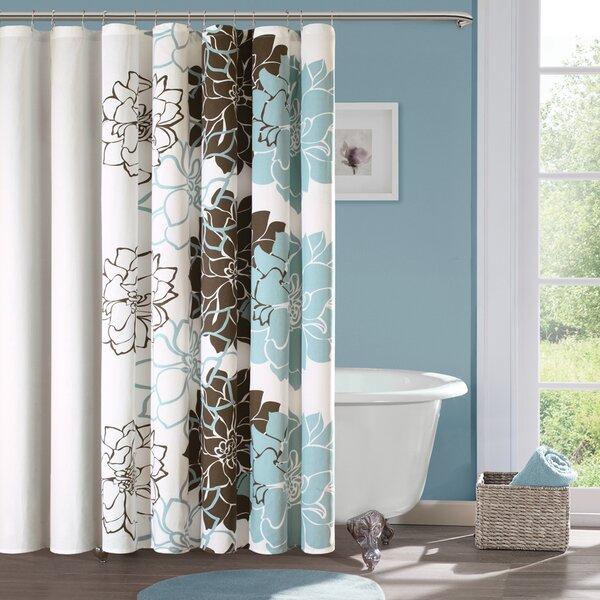 Red Barrel Studio Broadwell Cotton Shower Curtain U0026 Reviews | Wayfair