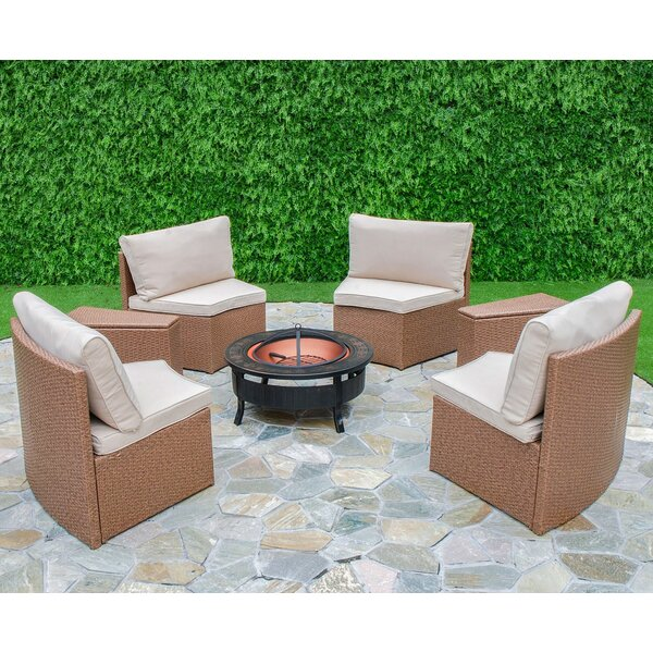 Captivating Bay Isle Home Mendon 6 Piece Curved Seating Group With Cushions U0026 Reviews |  Wayfair