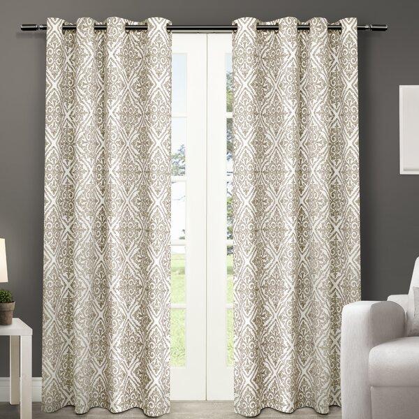 Amalgamated Textiles Sira Paisley Semi Sheer Curtain Panels U0026 Reviews |  Wayfair
