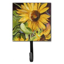 Sunflowers Leash Holder and Wall Hook by Caroline's Treasures