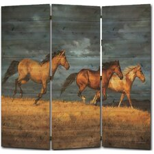 68 x 68 Thunder Ridge 3 Panel Room Divider by WGI-GALLERY