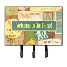 Welcome To The Camp Leash Holder and Key Hook by Caroline's Treasures