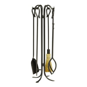Hearth 4 Piece Iron Fireplace Tool Set by Minuteman International
