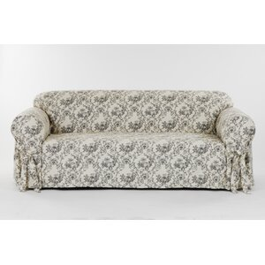 Toile Print Sofa Slipcover by Classic Slipcovers