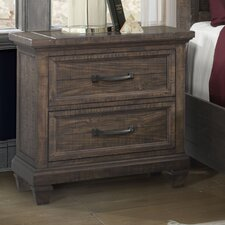 Hysham 2 Drawer Nightstand by Loon Peak