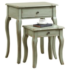 2 Piece Nesting Table Set II by Monarch Specialties Inc.