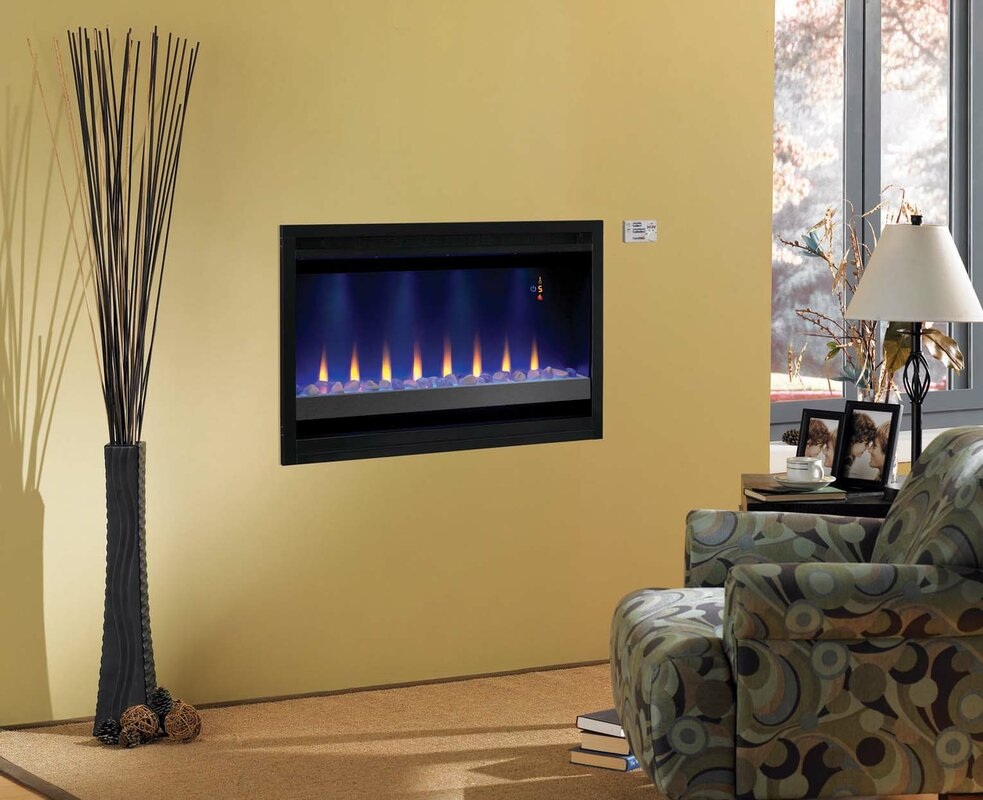 Electric Fireplace linear electric fireplace : Classic Flame Builder Box Contemporary Wall Mount Electric ...