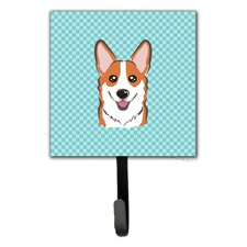 Checkerboard Corgi Wall Hook by Caroline's Treasures