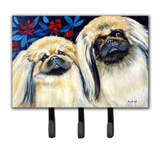 What a Pair of Pekingese Leash Holder and Key Hook by Caroline's Treasures