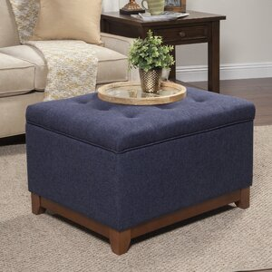 Nunnally Upholstered Storage Cocktail Ottoman by Alcott Hill