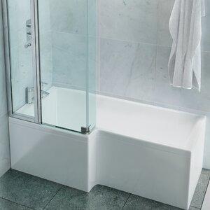 Eco 170cm x 85cm Shower Bath Soaking Bathtub