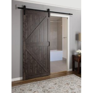 Continental MDF Engineered Wood 1 Panel Interior Barn Door