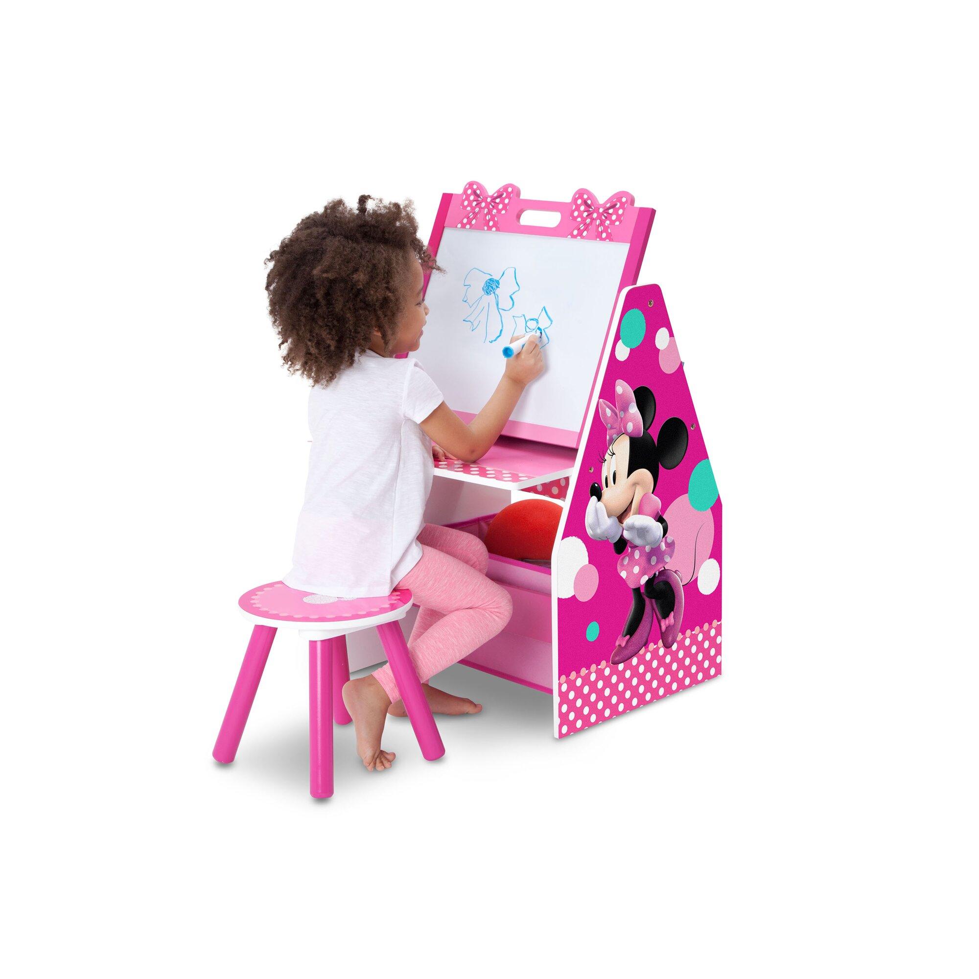 Delta Children Disney Minnie Mouse 20 Art Desk With Stool